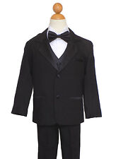 SIZE: 8 BOYS RECITAL, PARTY, GRADUATION  SUIT SET, BLACK with BOW TIE