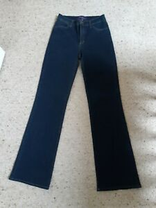 NYDJ Womens Blue straight/boot leg Jeans Size US2/UK6. Stretchy fit uk size 8-10
