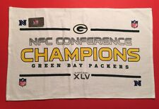 GREEN BAY PACKERS 2010 NFC Champ Rally Towell Super Bowl XLV 45 Vtg NFL Football