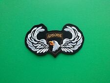 NOVELTY MILITARY U.S. FORCES SEW ON / IRON ON PATCH:- AIRBORNE (a) 82nd 101st