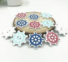25X Ocean Wooden Buttons Rudder 2 Holes Fit Sewing scrapbooking Diy 30mm