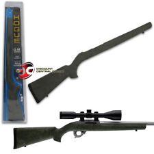 HOGUE OVERMOLDED RIFLE STOCK GHILLIE GREEN RUBBER FOR RUGER 10-22 BULL BARREL