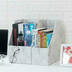 Magazine Files Books Paper Holder Office Organiser White Boxes Storage J2I2