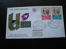 MONACO - enveloppe 1er jour 12/12/1966 (unesco) (cy63)