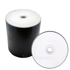 100 Blank 16x White Inkjet Printable DVD-R Disc, Free Priority Mail Shipping!