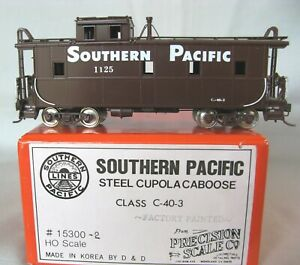 SP Southern Pacific C-40-3 Caboose by Precision Scale Co. Factory Painted Brass