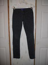 Miley Cyrus Max Azria  Low Rise Black Leopard Print Skinny Jeans   Sz.3 Juniors
