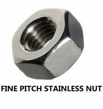 Qty 5 Stainless Steel M8 (8mm) x 1.00mm Pitch Metric Fine Hex Nut 316 Grade
