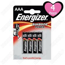 4 Batterie Pile Energizer Alcaline MiniStilo AAA