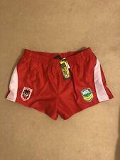 Crisp Satin Nylon NRL Rugby Shorts 3XL Red / White