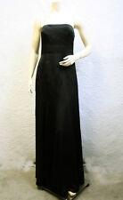 $328 BCBG BLACK (NWS6019) STRAPLESS SATIN LONG DRESS GOWN NWT 8