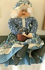 Granny Doll Phyllis Petee Cloth Handmade Collector Unique 26""