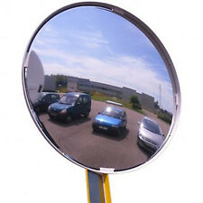 "Outdoor Acrylic Convex Security Mirror Stainless Steel Back 18"" Made In Usa New"