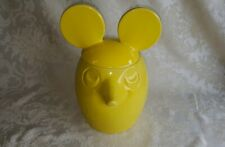 Neat Old Rare 60's-70's Vintage McCoy Solid Yellow Mickey Mouse Cookie Jar #208