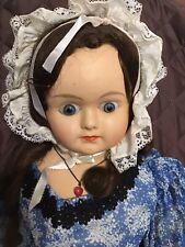 Big 28� Papier Mache Head Antique Doll