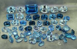 mixed blue Topaz 70.89ct natural loose gemstones