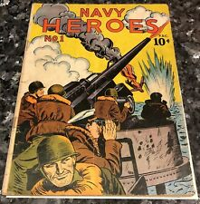 Navy Heroes #1 1945, Pearl Harbor, patriotic issue, scarce WW2 comic