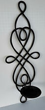 "Tuscan Brown 20"" Iron Scroll Wall Sconce ~ Fold Flat ~ Holds Large Pillar Candle"