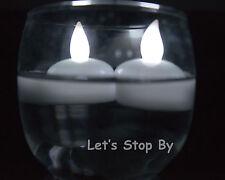 12 LED WHITE Floating Flicker Tea Candle Waterproof Wedding Centerpiece Light