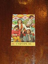 FIGURINA PANINI CANTANTI 1968 RECUPERATA N°182 L'EQUIPE 84