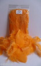 """Orange Craft Feathers 5gm Approx 20-25 pcs 30 >75 mm (1.5 >3.5"""") mixed"""