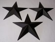"""Hearthside Collection 12"""" Black Metal Accent Stars Set of 3 NEW Primitive"""