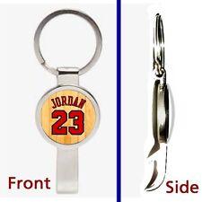 Michael Jordan Jersey Pennant or Keychain silver tone secret bottle opener