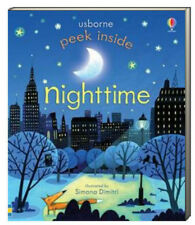 Usborne Peek Inside Night Time by Anna Milbourne (2014, Board Book)