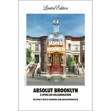 """ABSOLUT """"BROOKLYN""""  POSTER   NEW  24 BY 36"""