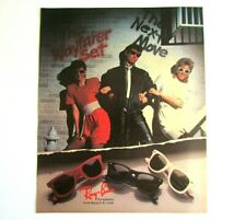 1987 Magazine Print AD* RAY-BAN Sunglasses - Totally 80's