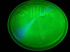 Green Vaseline glass Stop Light / Lens Elevator car truck signal uranium traffic