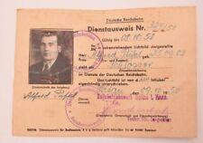 Alter Ausweis Deutsche Reichsbahn / Schlosser Bahnbetriebswerk SOLTAU 1950