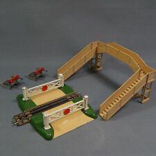 Vintage Hornby Dublo 00 Level Crossing Track Footbridge 2 x Buffers Lot Meccano