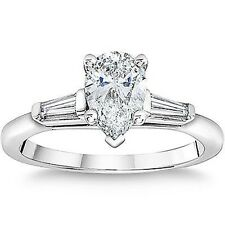 1.36ct Pear Diamond Engagement Ring EGL Certified F/SI1