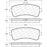 Disc Brake Pad Set Rear Centric 104.16811