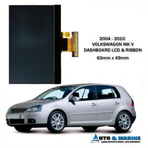 VW VOLKSWAGEN GOLF MK5 MKV DASHBOARD LCD DISPLAY & RIBBON .. NEW ...