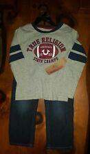 NWT $89 True Religion Kids Boy's Designer Outfit (Football Shirt & Denim Pants)
