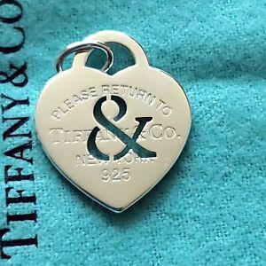 "Tiffany & Co Return To Tiffany ""ampersand "" heart. New. Size large."
