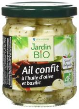 Jardin Bio Ail Confit à l'Huile d'Olive/Basilic 190 g - Lot de 3