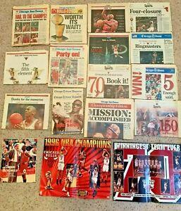 Vintage Lot of Chicago Tribune Sun Times Michael Jordan Bulls NBA 1993-1997 News
