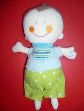Doudou BABYSUN baby sun bébé vert bleu rires enregistrés