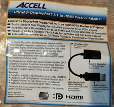 Accell Displayport to HDMI adapter