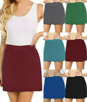 Women's Summer Active Skorts lining Skirt Running Tennis Golf Sports Mini Skirt