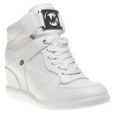 Michael Kors Nikko High Top White Real Leather Trainer UK 4 / EU 37 / US 6M