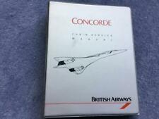 A Photocopy of British Airways Concorde Cabin Services Manual 1987 97 Pages