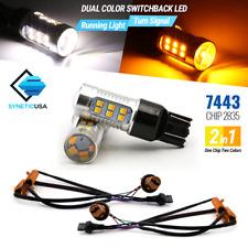 7443/7444NA Type-1 Switchback White/Amber 24-LED Error-Free Turn Signal Bulbs