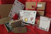 wool straw Christmas Eve Box Personalised A5 Letter Magic Key & Reindeer Food 6+