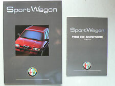 Prospekt Alfa Romeo 33 SW 1.7 IE, Boxer 16 V mit Preisheft, 11.1990, 20 Seiten
