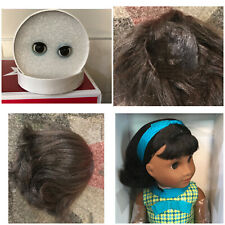 American girl doll Melody wig and eyes brand new replacement/customizing