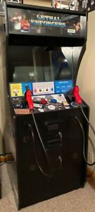LETHAL ENFORCERS ARCADE MACHINE by KONAMI (Great Condition) *RARE* Working Sound